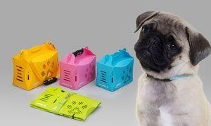 Groupon - Panier de transport Crazy Paws avec biberon pour chien ou chat, taille et coloris au choix dès 14,90€ (jusqu'à -60%) à [missing {{location}} value]. Prix Groupon : 14,90€