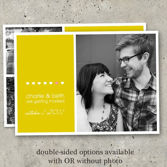 photo save the date modern photo card engagement by minkcards, $64.00