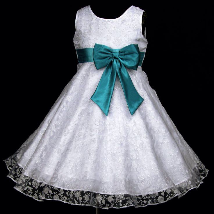 Teal flower girl dress...this is adorable for Makenna!