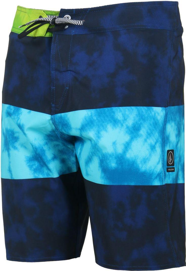 Volcom Men's Macaw Mod Boardshorts in matured blue