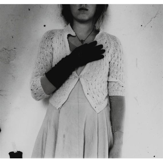 self-portrait, providence, rhode island (with glove), Francesca Woodman
