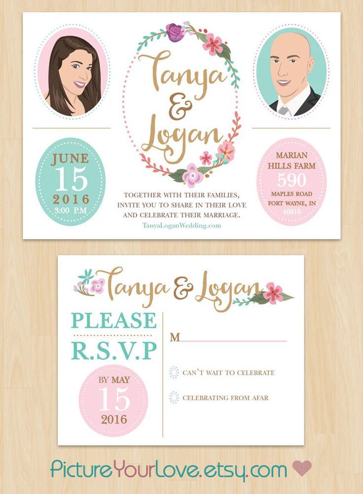 63 best Creatively Illustrated Wedding Invitations and Announcements ...