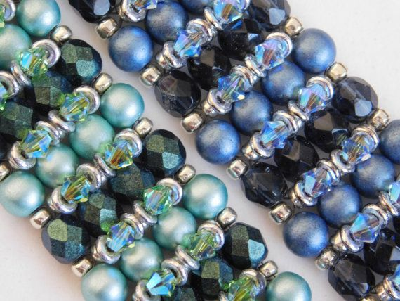 Swarovski and o-bead bracelet tutorial by poetry in beads