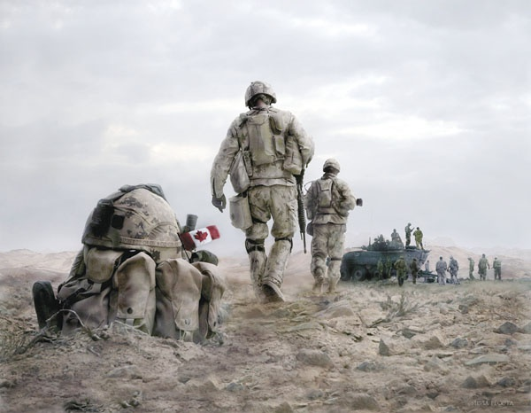 Apr 30, 2008 Silvia Pecota Ontario artist and photographer Silvia Pecota has plunged herself into the action in Afghanistan and elsewhere on Canadian military bases to help tell soldiers' stories through images. Read more on Pages 6 and 7. Above: Fallen Comrades was created two years ago (2006) in memory of the Canadian troops serving in Afghanistan. http://www.qctonline.com/canadian-forces#