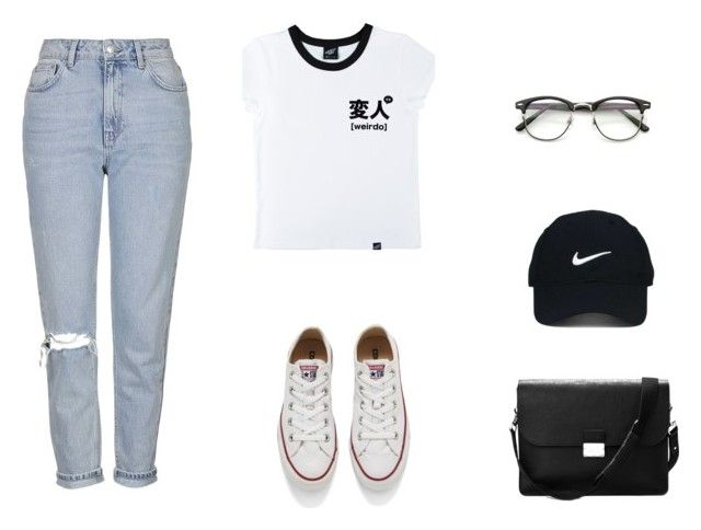 """""""hihi"""" by dasha-efimovich on Polyvore featuring мода, Illustrated People, Topshop, Aspinal of London, Converse и Nike Golf"""