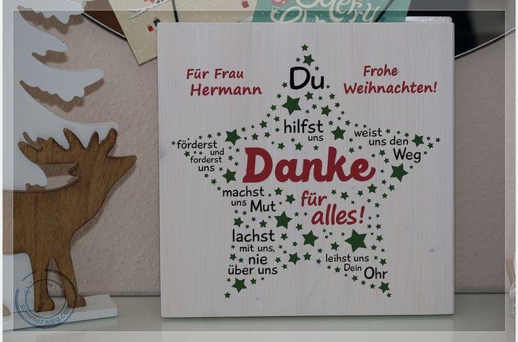 Wanddeko - Der Lehrer-Stern: Geschenk Dankeschön Grundschule - ein Designerstück von Sommerweg bei DaWanda