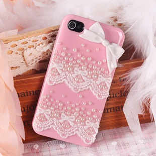 Lace pink iPhone Case Bling  iPhone 4/4s Case by deephonecover, $14.50