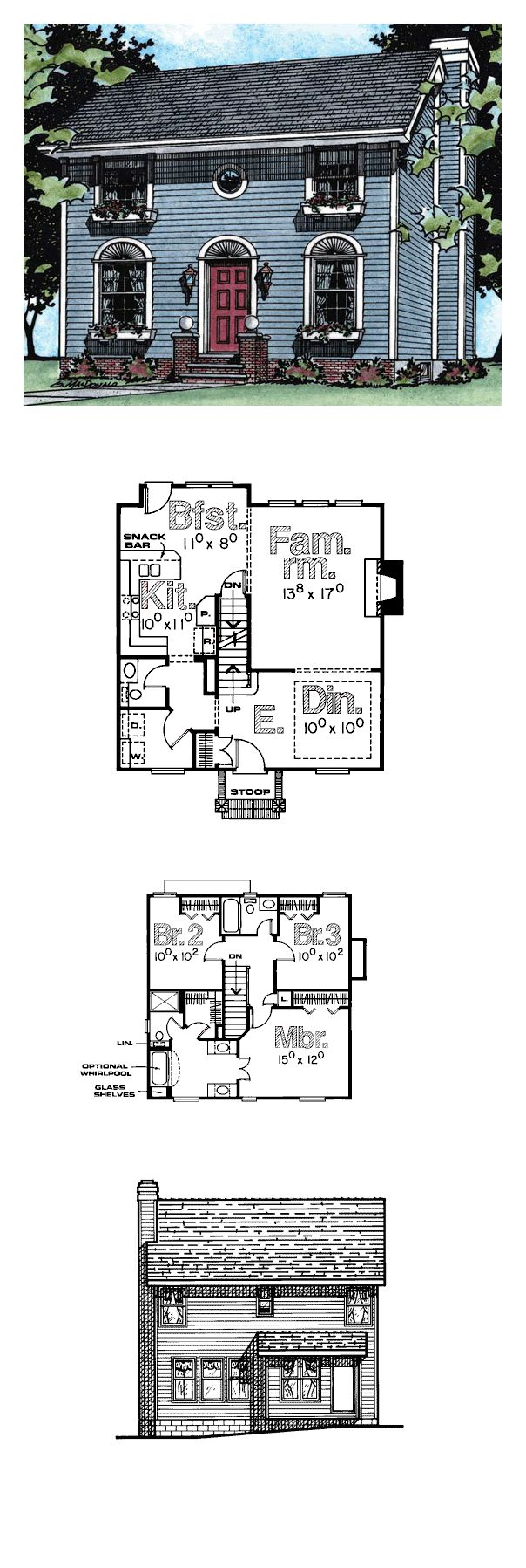 Historic style cool house plan id chp 21591 total for Cool house plans details