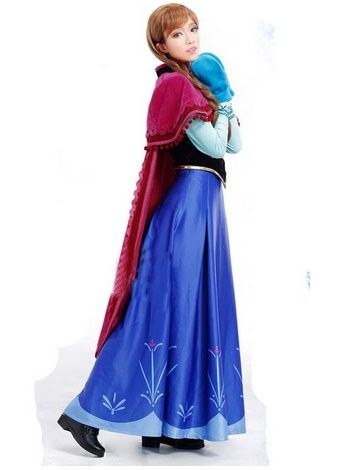 adult frozen costumes anna elsa cosplay and. Black Bedroom Furniture Sets. Home Design Ideas