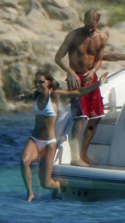 Will and Kate on holiday in Ibiza with friends in 2006.