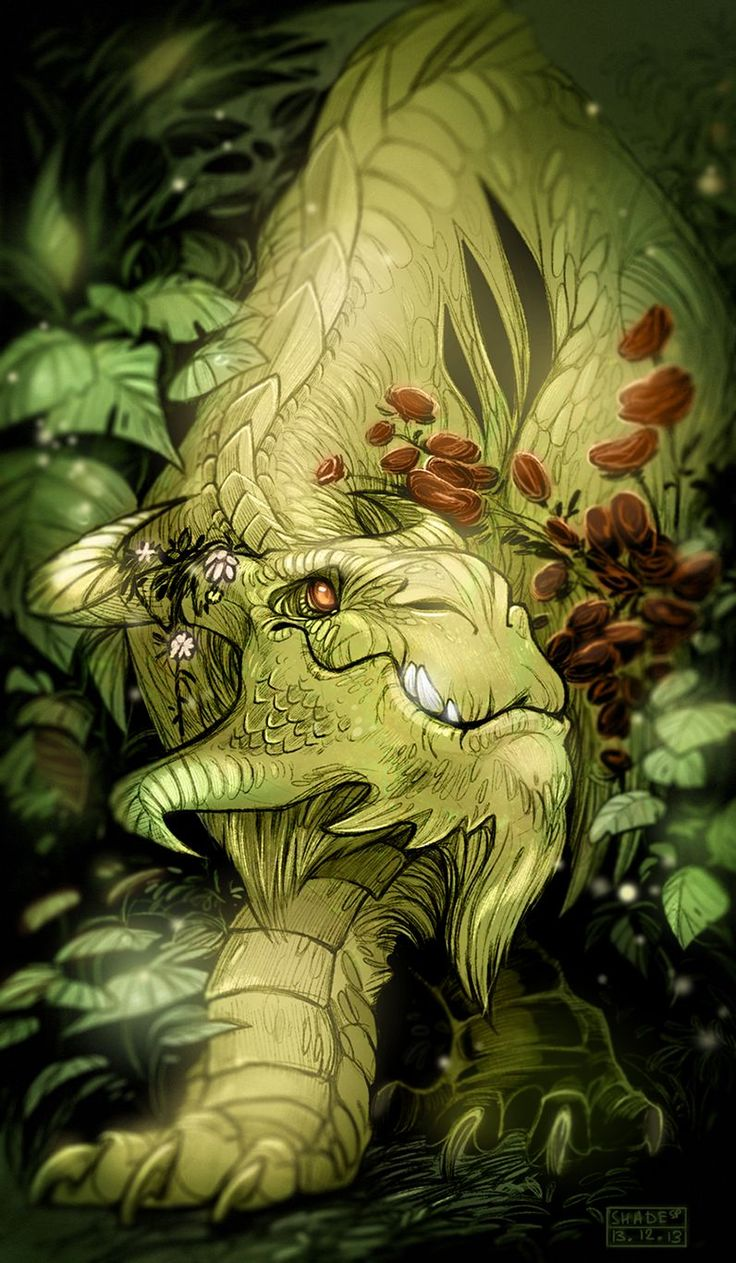 Forest dragon borrowed from Wryn Cooke.   I love his/her wise and gentle expression.  Gorgeous!