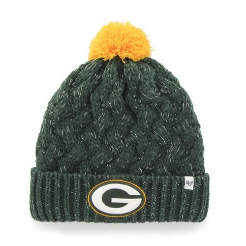 Green Bay Packers Beanie 47 Brand Fiona Knit Hat This