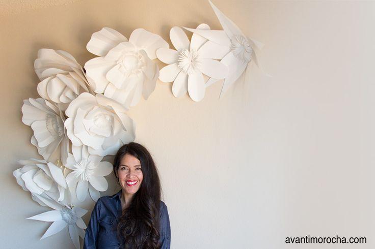 """Margarita gigante DIY """"Cómo hacer un telón de fondo de la flor gigante"""""""