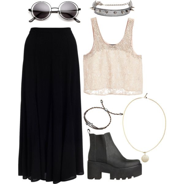 """""""soft pale-goth-grunge"""" by bijoork on Polyvore; love everything except the shoes"""