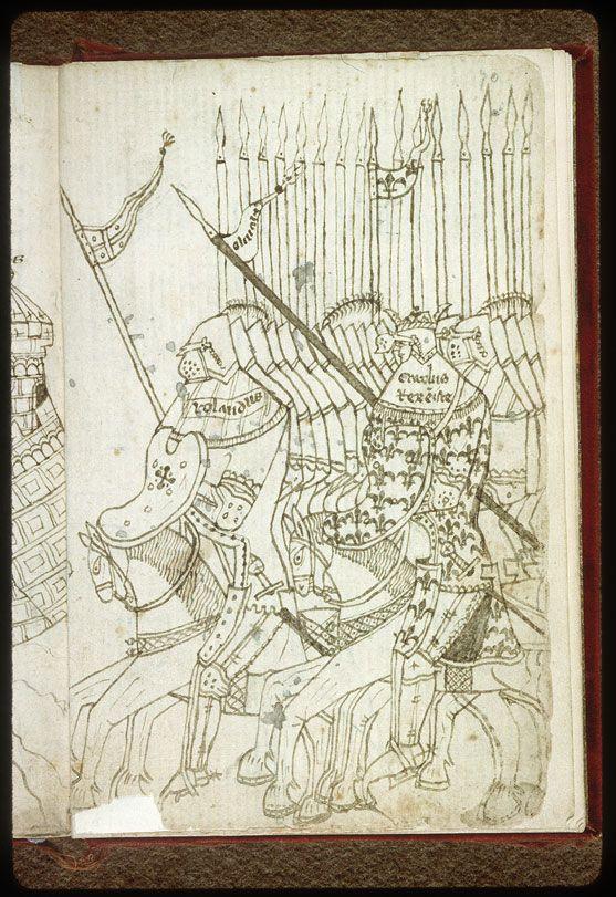 Aix-en-Provence, Bibl. Paul-Arbaud, MO 63, f. 070 – Charlemagne et son armée (à préciser)