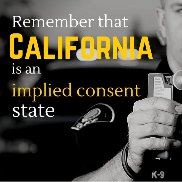 California is an implied consent state: you are required to submit to a chemical test if you are suspected of driving under the influence. When you signed up for your California driver's license – which you're required to have if you've been living in the state for a period – you agreed to submit to such testing. If you are pulled over under suspicion of driving under the influence, and you refuse to submit to a chemical test, the penalties may be greater.