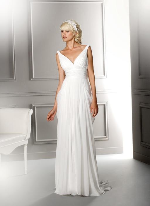 Herve Mariage Grecian-inspired dress.