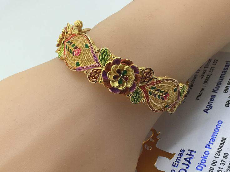 22k / 91,6% Gold Dubai / India Elegant Bracelet diameter 5,7cm
