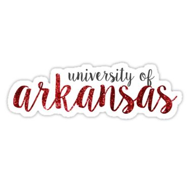 """University of Arkansas"" Stickers by Emily Cutter 