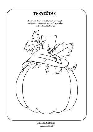 Tekvica - Jesenné pracovné listy