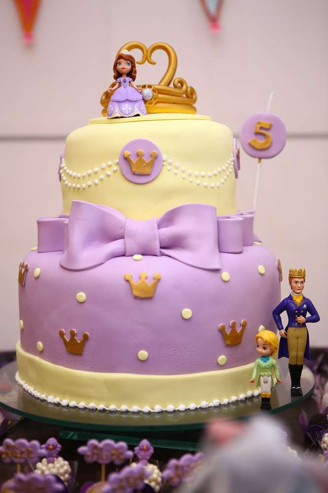Sofia the First girl Birthday Party cake! See more party planning ideas at CatchMyParty.com!