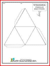 printable 3d shapes tetrahedron net tabs