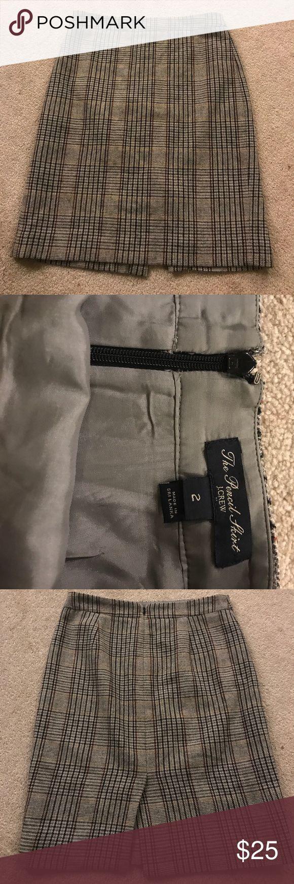 "Selling this J. Crew ""The Pencil Skirt"" khaki and plaid sz 2 on Poshmark! My username is: elmwoodrhodes. #shopmycloset #poshmark #fashion #shopping #style #forsale #J. Crew #Dresses & Skirts"