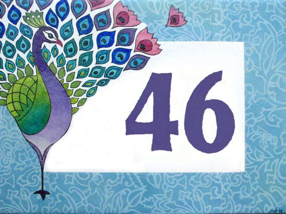 House Numbers Plate Address Plaque House by Paintingontiles