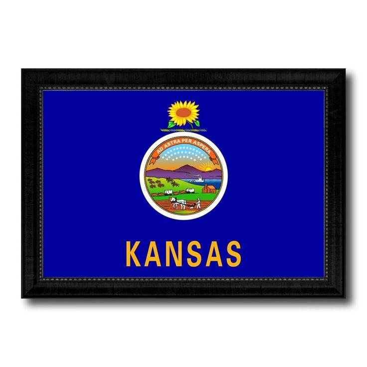 Kansas State Flag Canvas Print with Custom