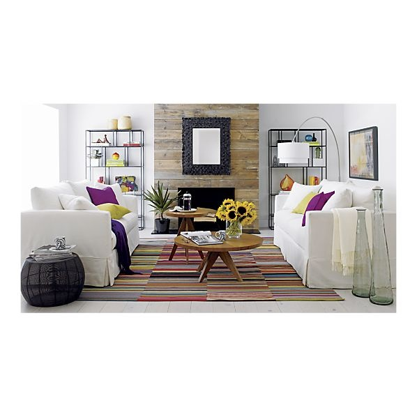 Living Room - Willow Sofa, Zola Rug, Zuri Accent Tables I Crate and BarrelCoffee Tables, Fun Recipe, Barrels, Livingroom, Fireplaces, Living Room, Room Dividers, Willow Sofas, Fire Places
