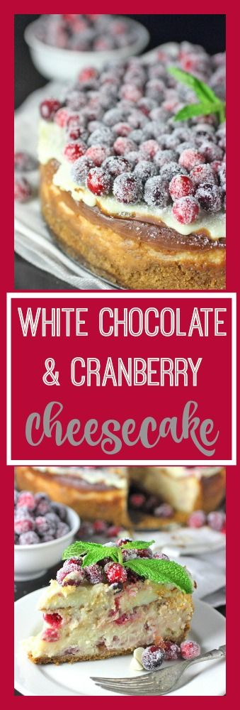 White Chocolate & Cranberry Cheesecake: A great Christmas dessert!