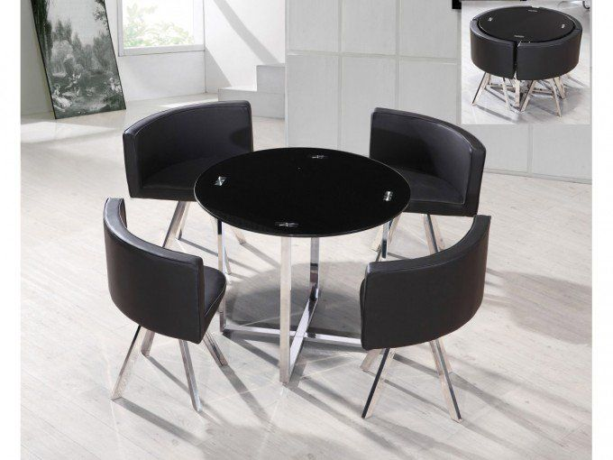 Space Saving Dining Table, Small Black Dining Table And Chairs