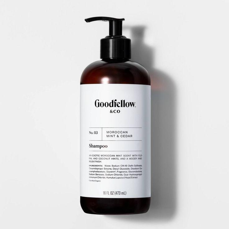 No 03 Moroccan Mint Cedar Shampoo 16 Fl Oz Goodfellow Co In 2020 Shampoo Body Wash Scented Shampoo Body Wash