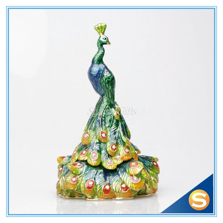 Find More Bottles,Jars & Boxes Information about Peacock  tail jewelry display metal figurine hand crafted peacock crafts wedding return gifts,High Quality gift idea for doctor,China wedding party jewelry sets Suppliers, Cheap gift item for marriage from Shinny Gifts CO., Ltd on Aliexpress.com