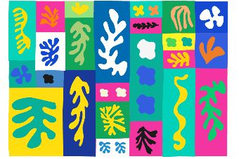 Vorlagen für Scherenschnitt-Collagen nach Henri Matisse - Zum Herunterladen: Vorlagen für Scherenschnitt-Collagen nach Henri Matisse. Die Scherenschnitt-Vorlagen können mit Wasserfarben koloriert oder auf farbiges Papier gedruckt werden. Nach dem Ausschneiden werden die Motive zu farbenfrohen Papier-Collagen aufgeklebt. Ein fantastisches Projekt für die Gruppenarbeit!