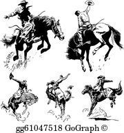 Vector Vintage Rodeo Graphics Clip Art Stock Art Graphic