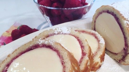 Cool down with Phil's vanilla Arctic roll