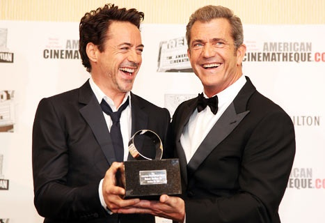 Mel Gibson & Robert Downey Jr.---THE BEST OF BROS.  HUG THE CACTUS.