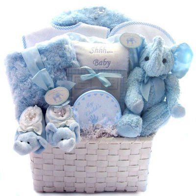 Baby Shower Gift Basket Ideas....all Blue For Boys U0026 Pink For
