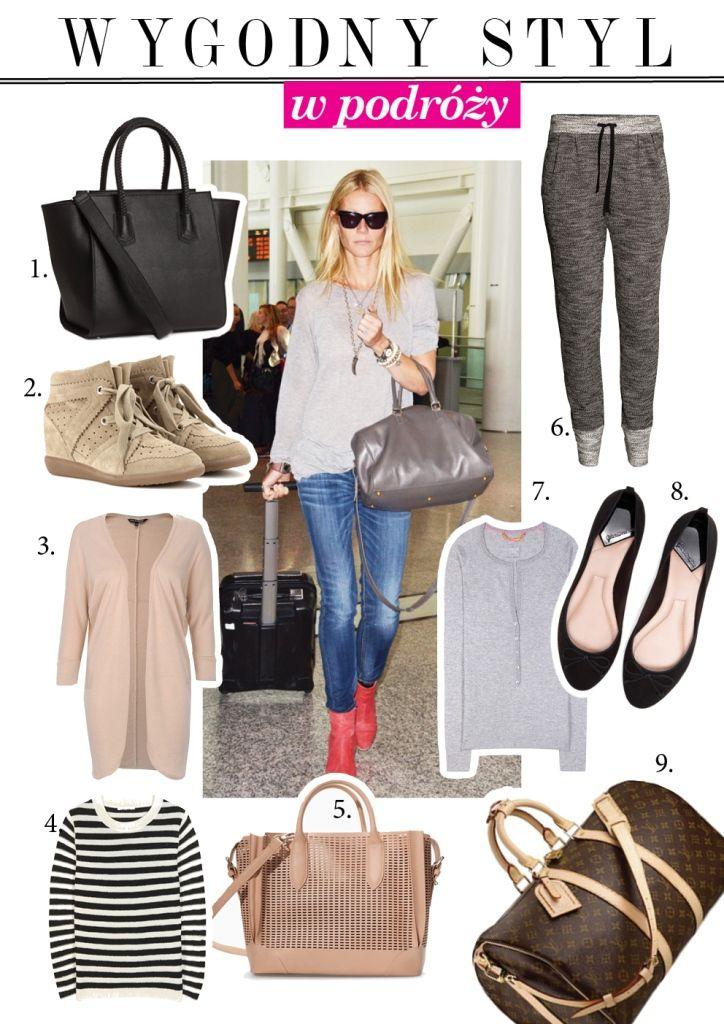 gwyneth paltrow airport style/ styl w podróży