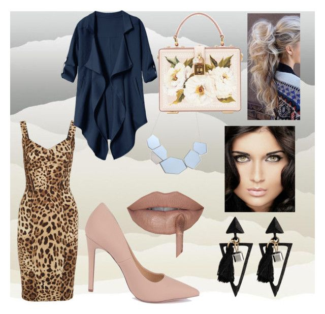 leopard print by sweetdollanjali on Polyvore featuring polyvore fashion style Dolce&Gabbana York Wallcoverings clothing
