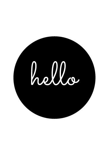 Hello print hello printable hello poster hello by ColourMoon
