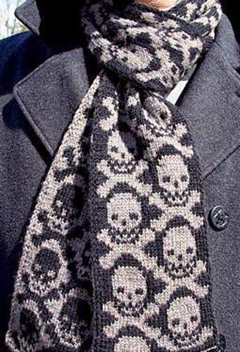 Skull and crossbones scarf