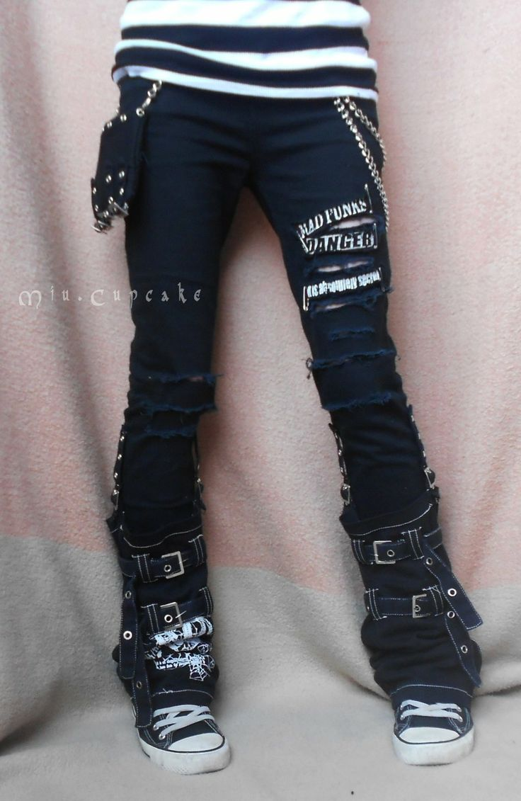 self made punk pants. need to learn to do this!!