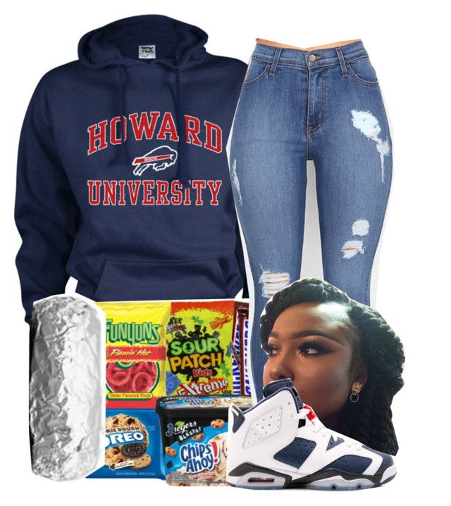 """Howard University❤️"" by zonniqueplease ❤ liked on Polyvore"