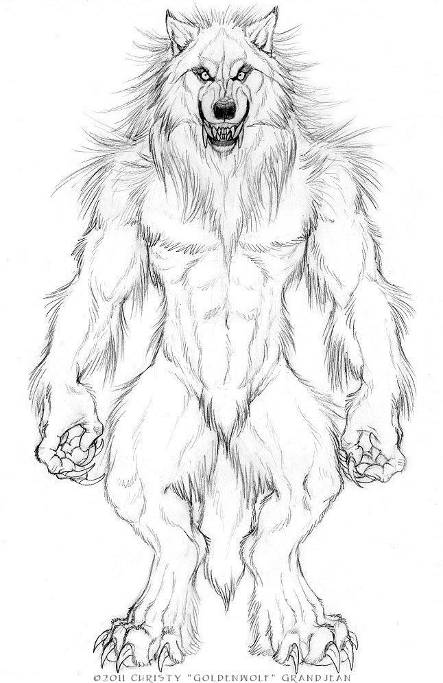RS-Style Werewolf by Goldenwolf on DeviantArt