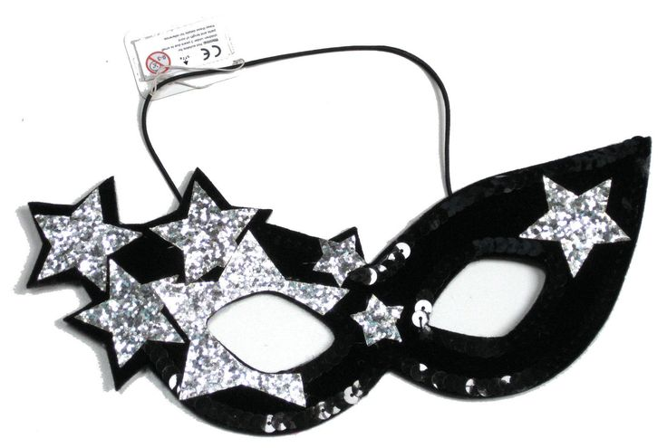 £5.99 LADIES BLACK & SILVER STARS LADY GAGA FANCY DRESS MASQUERADE MASK BNWT in Clothes, Shoes & Accessories, Fancy Dress & Period Costume, Accessories | eBay