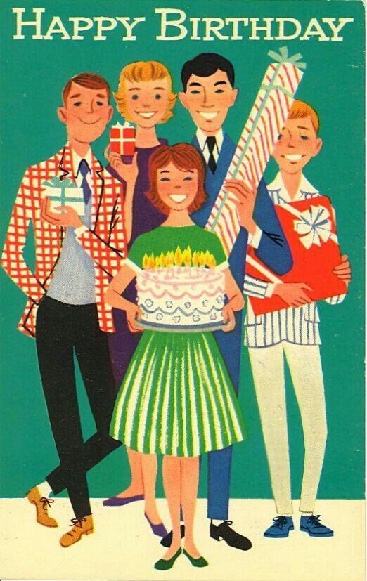 Vintage Birthday Card So