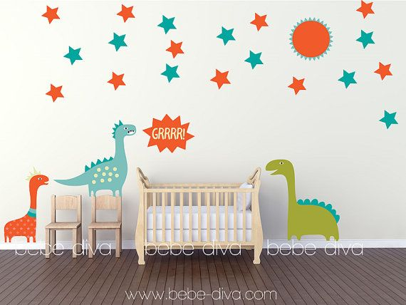 Dinosaur Wall Decals, Boys Wall Decals, Nursery Wall Decals By Bebe Diva Part 91