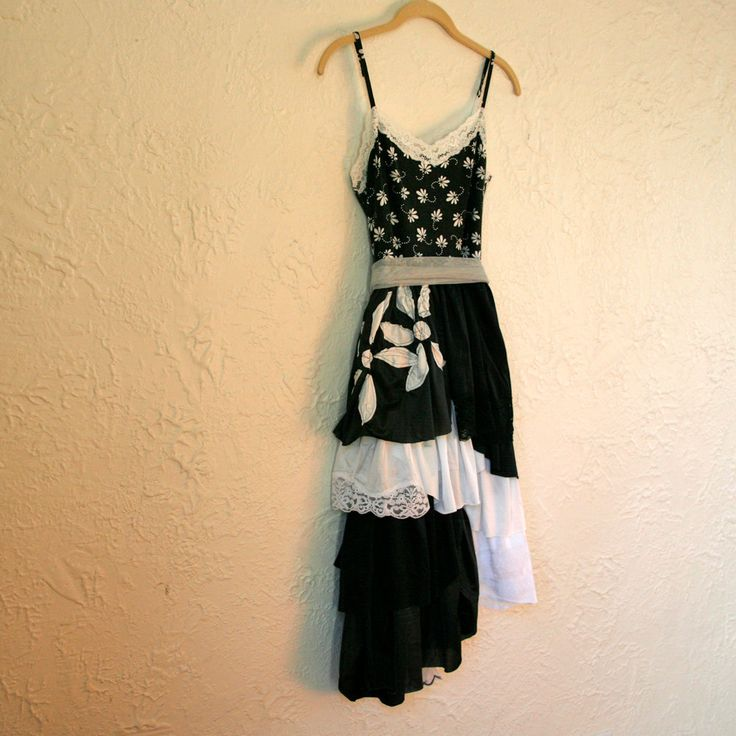 upcycled clothing upcycled slip dress head over by pondhopper